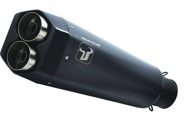 IXRACE M9 rostfritt helsystem ljuddämpare, svart, Yamaha MT-07