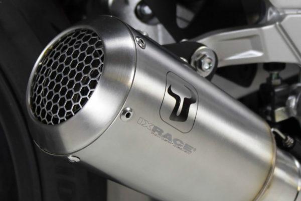 IXRACE MK2, roestvrij stalen geluiddemper voor KTM 125/390, 17-, RC 125/390, 17- (Euro 4).