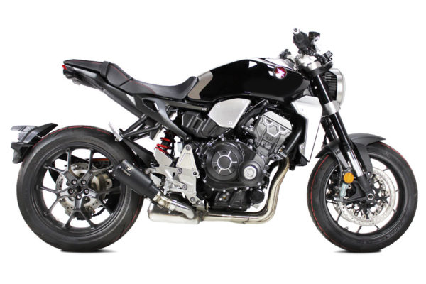 IXRACE MK2 rostfri ljuddämpare, svart, Honda CB 1000 R, 18-