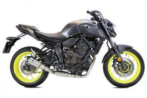 Edelstahl-Komplettanlage MK2 für Yamaha MT 07, 14- - silber