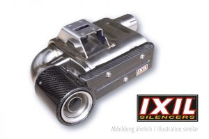 IXIL SX1 rostfritt helsystem ljuddämpare, Kawasaki Z 650/650 Ninja, 17-