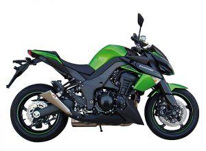IXIL X55 rostfri ljuddämpare, svart, Kawasaki Z 1000, Z 1000 SX