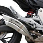 IXRACE 2 Rostfri Endcap  Honda CB 600 F Hornet, 07-12, CBR 600 F, 11-, Dualexit, E-märkt.