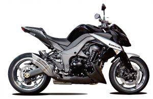 Auspuff IXRACE 2 black für Kawasaki Z 1000, Z 1000 SX - silber