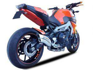 Edelstahl-Komplettanlage für Yamaha MT-09 & XSR 900, 16- (Euro4) - silber
