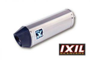 IXIL Rostfri ljuddämpare HEXOVAL XTREM Evolution HYOSUNG GT 650/R/S, svart Endcap