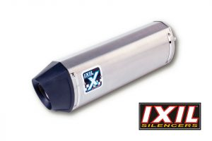 IXIL Rostfri ljuddämpare HEXOVAL XTREM svart Triumph Speed Triple 1050, 11-, svart Endcap, Par