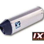 IXIL Rostfritt HEXOVAL XTREM Evolution KAWASAKI ZXR 750, 91-95, svart Endcap
