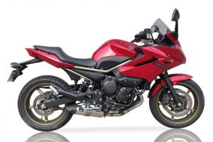 IXIL HEXOVAL XTREM Evolution Komplett system i Rostfritt till Yamaha XJ 6 år 09, svart Endcap