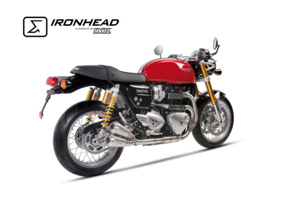 IRONHEAD Roestvrij staal Compleet systeem Triumph Thruxton 1200, 16, 16%.