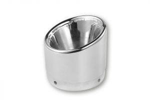 IXIL IRONHEAD-Endcap Slashed, krom, för ljuddämpare med D=112mm