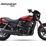 IRONHEAD roestvrijstalen uitlaatdemper Harley-Davidson Street 500/750, 14-16