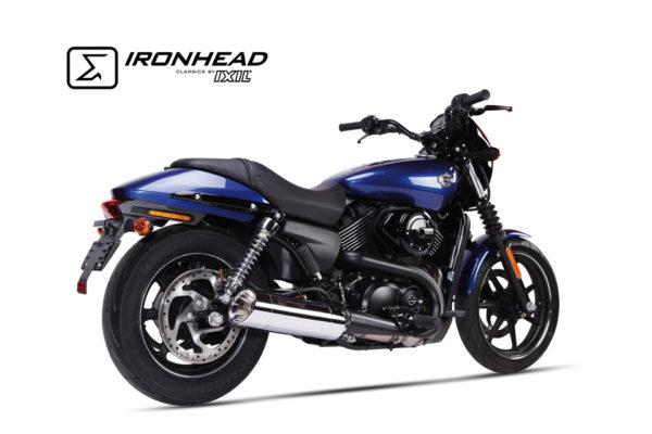 T?umik ze stali nierdzewnej IRONHEAD Harley-Davidson Street 500/750, 14-16