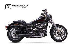 IRONHEAD roestvrijstalen geluiddemper Harley-Davidson Dyna Low Rider, 14-16
