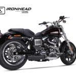 Tłumik ze stali nierdzewnej IRONHEAD Harley-Davidson Dyna Low Rider, 14-16