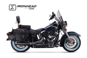 IRONHEAD Roestvrij stalen geluiddemper Harley-Davidson Softail Breakout, 13-16, Heritage Classic, 07-16