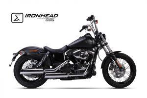IRONHEAD roestvrijstalen uitlaatdemper Harley-Davidson Dyna Street Bob, 06-16