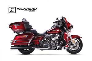 IRONHEAD roestvrijstalen geluiddemper Harley-Davidson Touring Road King, 06-16