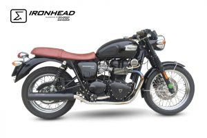 Roestvrijstalen IRONHEAD uitlaatdemper Triumph Bonneville T100, 07-15, 07-15