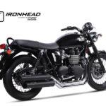 IRONHEAD roestvrijstalen compleet systeem Triumph Bonneville T100, 07-15, 07-15