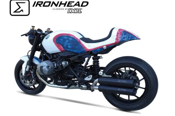 IRONHEAD roestvrijstalen geluiddemper BMW R Negen T, 14-