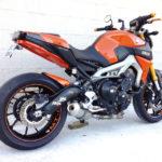 TAKKONI borstader Rostfri Komplett system till Yamaha MT-09 & XSR 900, 16- (Euro4)