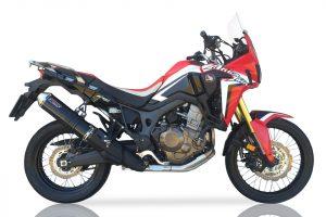 TAKKONI roestvrijstalen geluiddemper voor Honda CRF 1000 L Africa Twin, 16 (Euro 4)