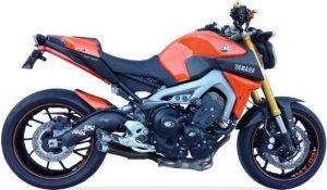 IXIL Hyperlow svart XL-rostfritt helsystem ljuddämpare, Yamaha MT-09, XSR 900, 16-